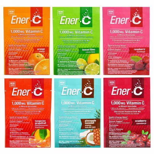 Ener-C, ビタミンC,発泡性飲料用粉末ミックス, バラエティパック, 6 パック (Discontinued Item)