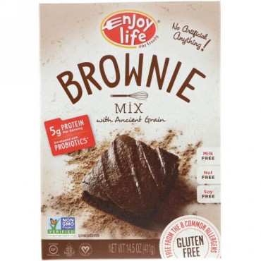 Enjoy Life Foods, Brownie Mix with Ancient Grain, 14.5 oz (411 g) (Discontinued Item)