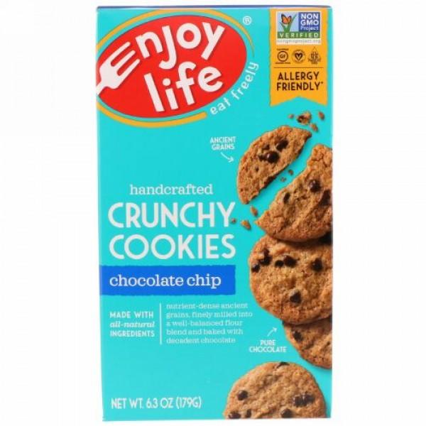 Enjoy Life Foods, 手作りのさくさくクッキー, チョコレートチップ, 6.3オンス(179 g)
