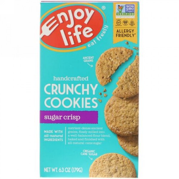 Enjoy Life Foods, 手作りサクサククッキー、シュガークリスプ、6.3オンス(179 g) (Discontinued Item)