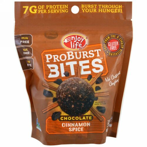 Enjoy Life Foods, ProBurst Bites, Chocolate Cinnamon Spice, 6.4 oz (180 g) (Discontinued Item)