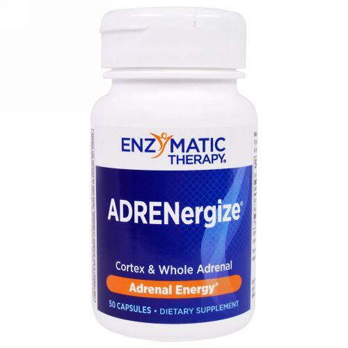 Enzymatic Therapy, アドレナジャイズ(ADRENergize)、アドレナルエネルギー、カプセル50粒