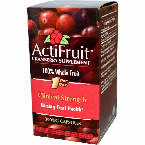 Enzymatic Therapy, ActiFruit Cranberry Supplement, 30 Veg Capsule