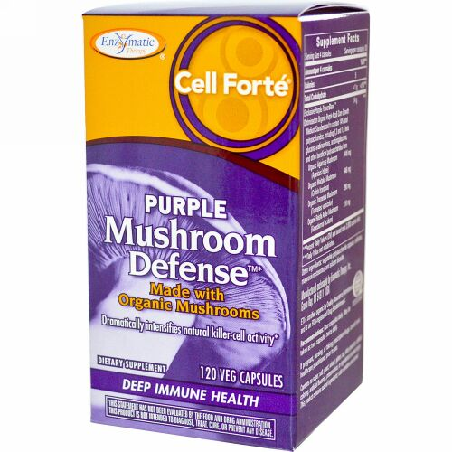 Enzymatic Therapy, Cell Forté, Purple Mushroom Defense, 120 Veggie Caps (Discontinued Item)