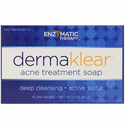 Enzymatic Therapy, DermaKlear ニキビ治療石けん、3オンス (85 g)