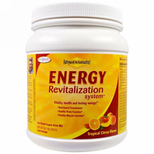 Enzymatic Therapy, ヘトヘトから気分爽快に!エネルギー復元システム、トロピカルシトラス味、24.7 oz (702 g)