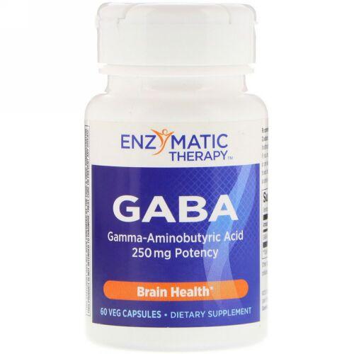 Enzymatic Therapy, GABA、60ベジカプセル