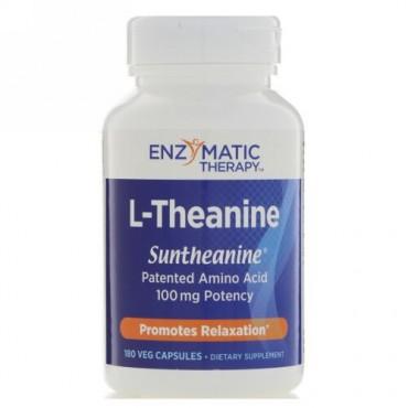 Enzymatic Therapy, L-テアニン、植物カプセル180粒