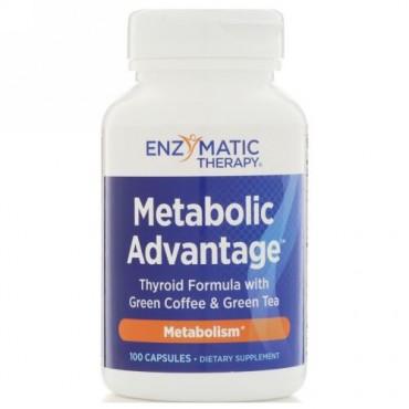Enzymatic Therapy, メタボリックアドバンテージ、代謝、100カプセル