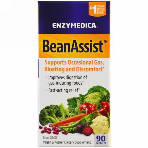 Enzymedica, BeanAssist、90カプセル (Discontinued Item)