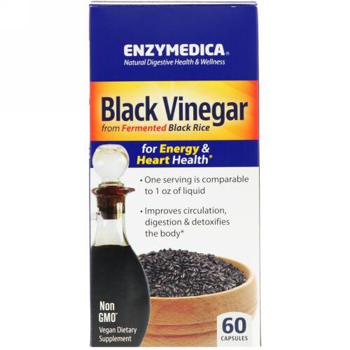 Enzymedica, 黒酢、60カプセル (Discontinued Item)