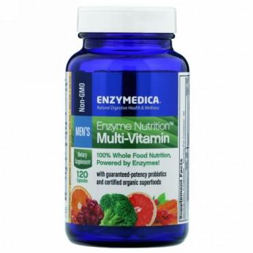 Enzymedica, 酵素栄養素マルチビタミン, 男性用, 120カプセル