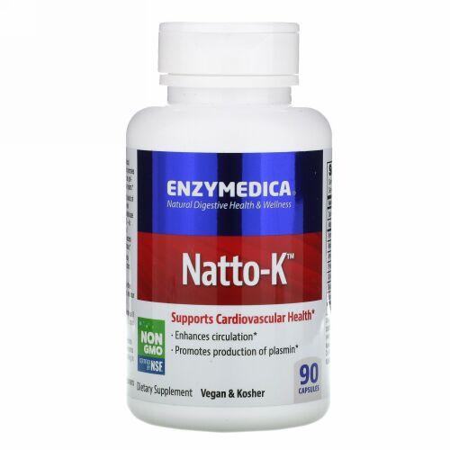 Enzymedica, 納豆-K, 心臓血管, 90カプセル