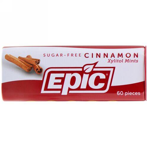 Epic Dental, Xylitol Mints, Cinnamon, Sugar-Free, 60 Pieces