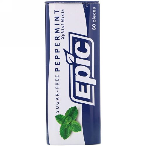 Epic Dental, 100% キシリトール使用、 ペパーミントミンツ、 無糖、 30 g