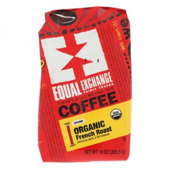 Equal Exchange, オーガニック、コーヒー、フレンチロースト、粉末、10 oz (283.5 g)