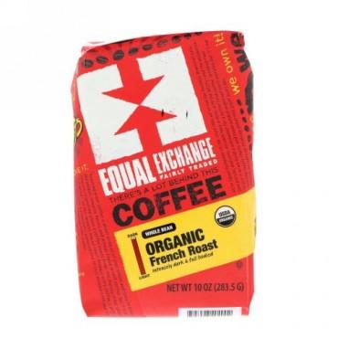 Equal Exchange, オーガニック・フレンチロースト、コーヒー豆、10 oz (283.5 g)