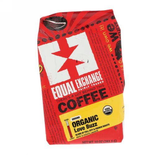 Equal Exchange, オーガニック、コーヒー、ラブバズ、粉末、10 oz (283.5 g)