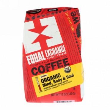 Equal Exchange, オーガニック、コーヒー、心・体・魂、粉末、12 oz (340 g)