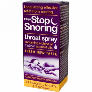 Essential Health Products, Helps Stop Snoring、喉用スプレー、2 液量オンス (59 ml) (Discontinued Item)