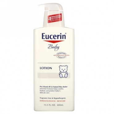 Eucerin, Baby、 Lotion、無香料、 13.5液量オンス(400 ml)