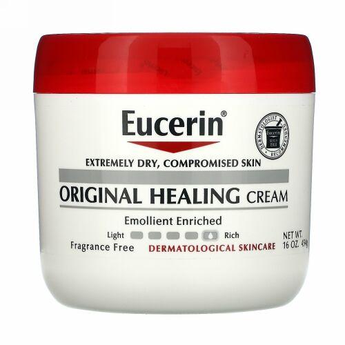 Eucerin, オリジナルヒーリングクリーム、極度に乾燥したダメージ肌用、無香料、454 g