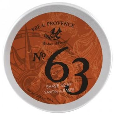 European Soaps, プレドゥプロヴァンス、No. 63シェイブソープ、5.25オンス(150g) (Discontinued Item)