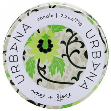European Soaps, ウルバナ、大豆ブレンドキャンドル、ルーツ + レイン、2.5オンス (70 g) (Discontinued Item)