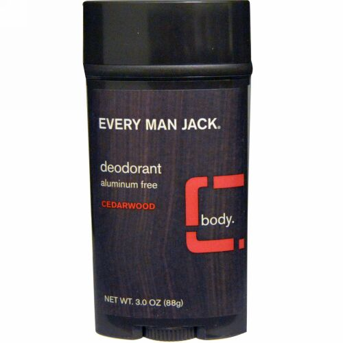 Every Man Jack, Every Man Jack, デオドラント, シダーウッド, 3.0 oz (88 g) (Discontinued Item)