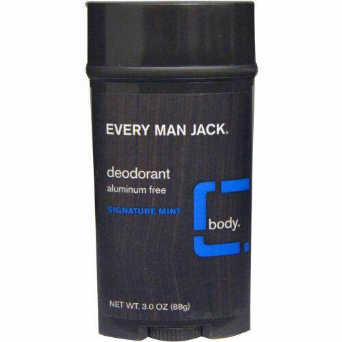 Every Man Jack, Deodorant, Signature Mint, 3.0 oz (85 g) (Discontinued Item)