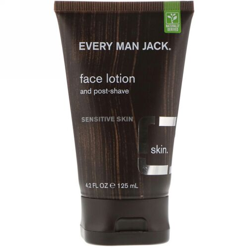 Every Man Jack, Face Lotion, Sensitive Skin, Fragrance Free, 4.2 fl oz (125 ml) (Discontinued Item)