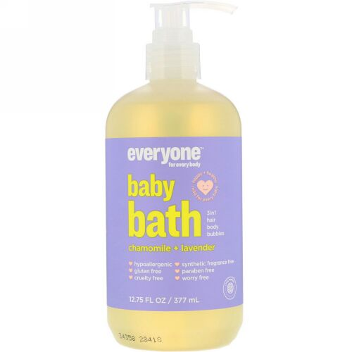 Everyone, Baby Bath, 3 in 1, Chamomile + Lavender, 12.75 (377 ml) (Discontinued Item)