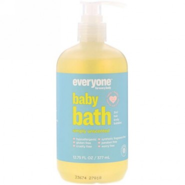 Everyone, Baby Bath, Simply Unscented, 12.75 fl oz (377 ml) (Discontinued Item)