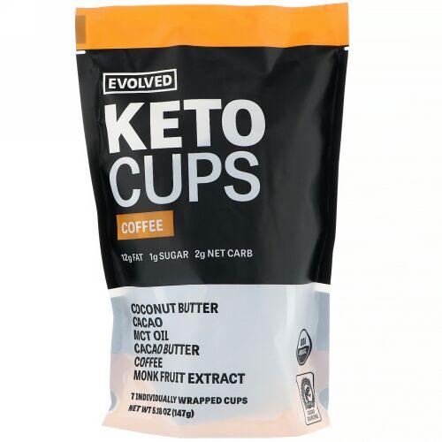 Evolved Chocolate, ケトカップス(Keto Cups)、コーヒー、147g (Discontinued Item)