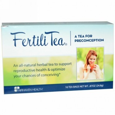 Fairhaven Health, 女性用ファーティリティー、 16ティーバッグ、 0.87オンス (24.8 g) (Discontinued Item)