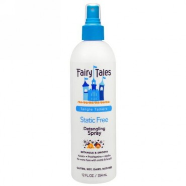 Fairy Tales, デタングリング・スプレー、スタティック・フリー、タングル・テイマー、12 液体 オンス(354 ml) (Discontinued Item)