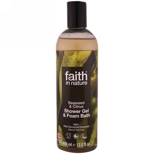 Faith in Nature, シャワージェル & フォームバス、海藻 & シトラス、13.5液量オンス (400 ml) (Discontinued Item)