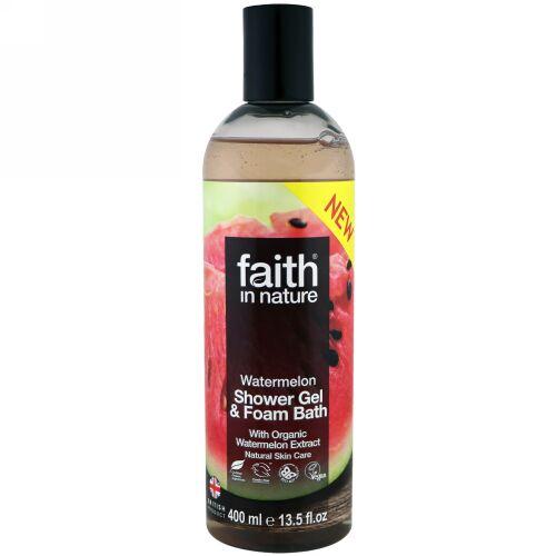 Faith in Nature, Shower Gel & Foam Bath, Watermelon, 13.5 fl oz (400 ml) (Discontinued Item)
