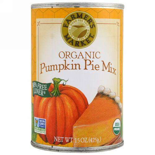 Farmer's Market Foods, オーガニック・パンプキンパイミックス、15 oz (425 g) (Discontinued Item)