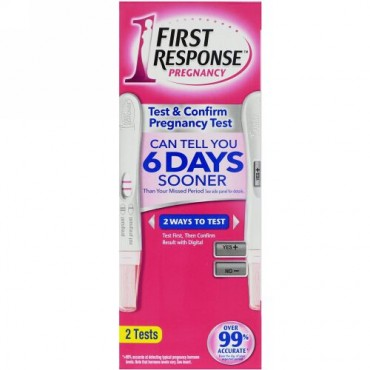 First Response, Test & Confirm Pregnancy, 2 Tests (Discontinued Item)