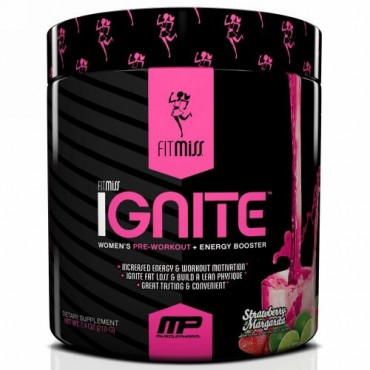 FitMiss, Ignite、 ストロベリーマルガリータ、 7.4 オンス (210 g) (Discontinued Item)