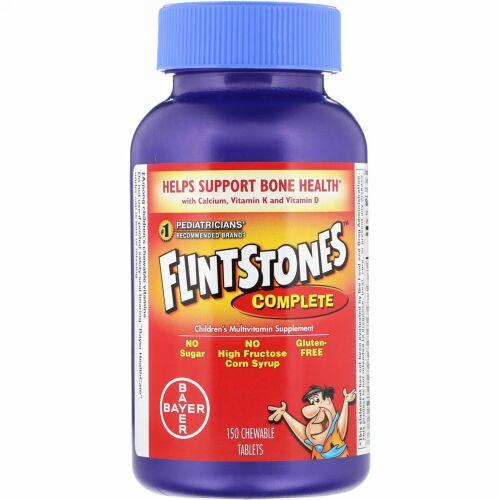 Flintstones, コンプリート、 子供用マルチビタミンサプリメント、 150チュアブルタブレット