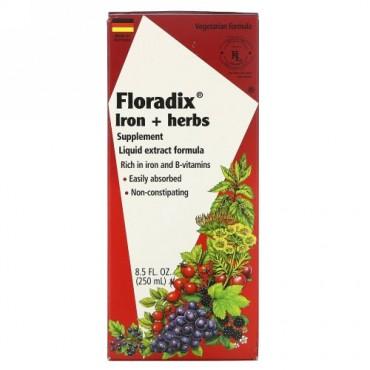 Flora, フロラディックス、 鉄 + ハーブ サプリメント、 液体エキスフォーミュラ、 8.5 fl oz (250 ml)