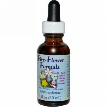 Flower Essence Services, ファイブ - フラワー・フォーミュラ, フラワーエッセンス・コンビネーション, 1 液量オンス (30 ml)