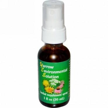 Flower Essence Services, ヤロウ エンバイロメンタルソルーション スプレー, 1 fl oz (30 ml)