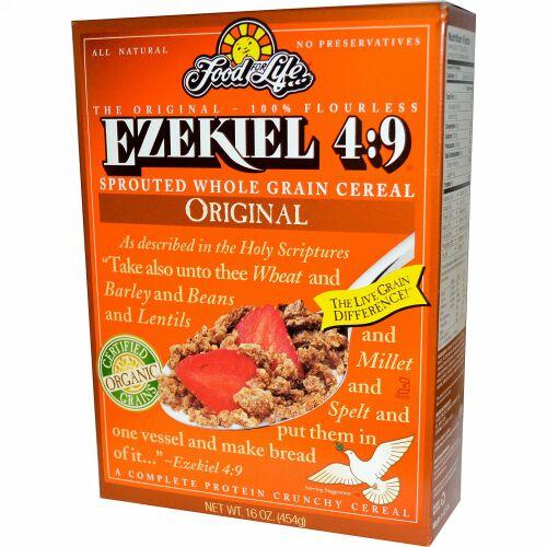 Food For Life, Ezekiel 4:9、発芽全粒シリアル 、オリジナル、 16 オンス (454 g) (Discontinued Item)