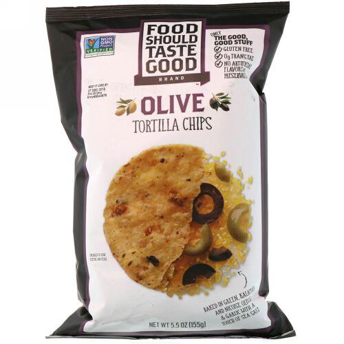 Food Should Taste Good, Tortilla Chips, Olive, 5.5 oz (155 g) (Discontinued Item)