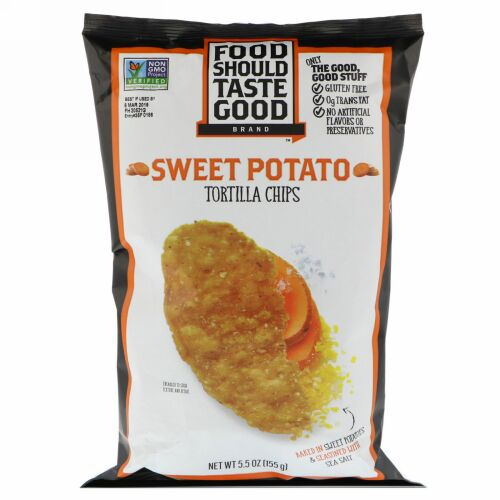 Food Should Taste Good, トルティーヤチップス、サツマイモ、155g(5.5oz) (Discontinued Item)