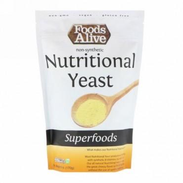 Foods Alive, スーパーフード、栄養満点のイースト、6 oz (170 g)