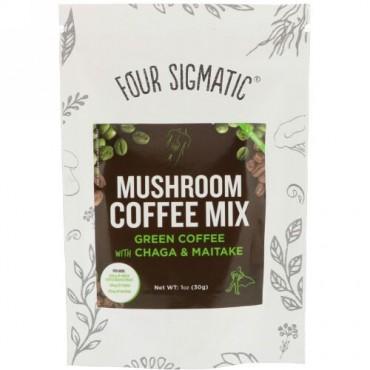 Four Sigmatic, チャガ・マイタケ配合マッシュルームグリーンコーヒー、1 oz (30 g) (Discontinued Item)